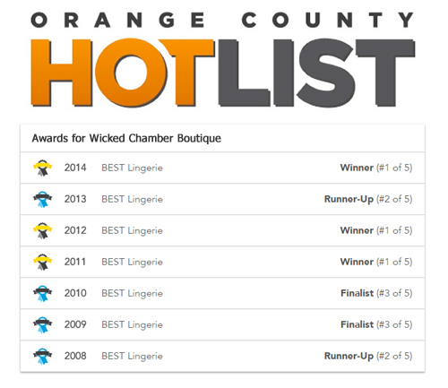 Orange County Hot List Awards for Wicked Chamber